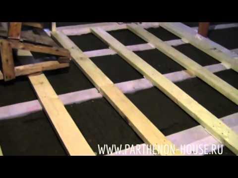 видео: Устройство фанерного настила по деревянным балкам