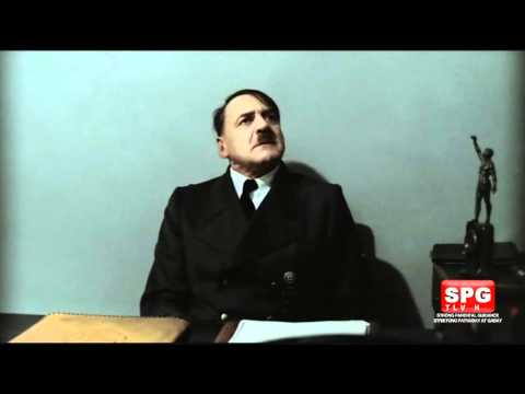 Hitler is informed that Downfall now has a TV content rating.