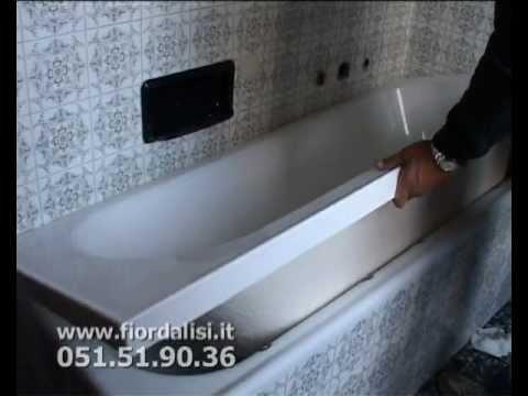 Riparazione Vasca Da Bagno Vetroresina : Ristrutturazione bagno con la tecnica vasca nella vasca youtube