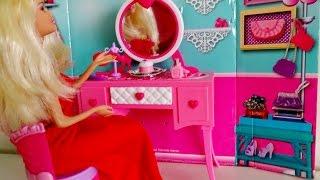 Barbie'nin şık mobilyaları  makyaj aynası Barbie Güzellik Zamanı