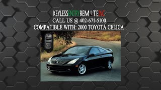 how to replace toyota celica key fob battery 2000