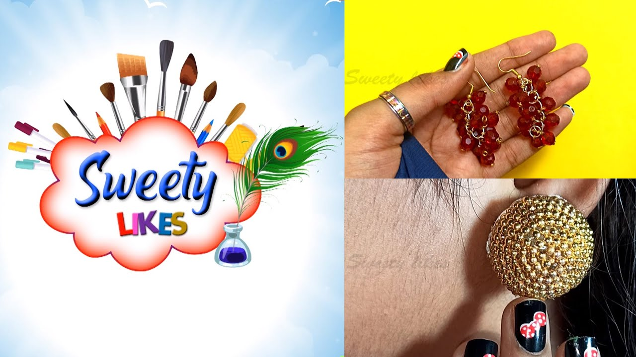 #Girlyfashion ll #Pearlearring ll DIYEarrings ll Handmade Ladies Fashion Earrings ll Sweety Likes 1
