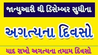 અગત્યના દિવસો ◆ Important Days Gk in Gujarati ◆ Current Affairs in Gujarati ◆ Knowledge Guru