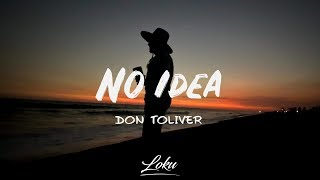 Don Toliver - No Idea (Lyrics)
