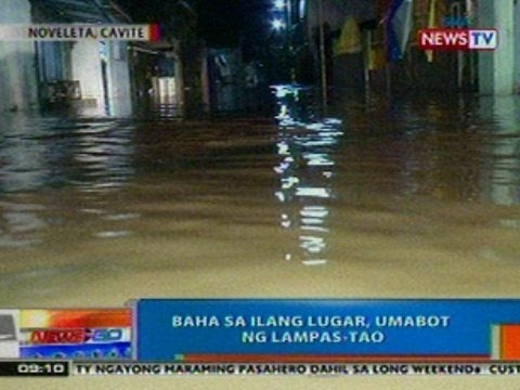 NTG: Baha sa ilang lugar sa Noveleta, Cavite, umabot ng lampas-tao