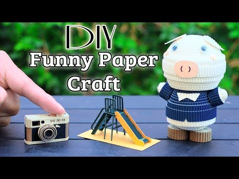 DIY Miniature Collections || Funny Paper Craft
