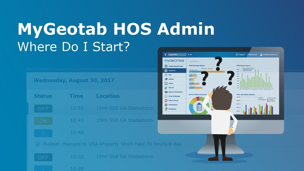 MyGeotab HOS Admin - Where Do I Start? | Geotab Drive
