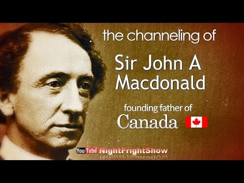 channeling Sir John A Macdonald 150 birthday Kingston Canada video Erin Brent Holland Show