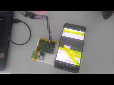 Logging and exfiltration of screen unlock pattern