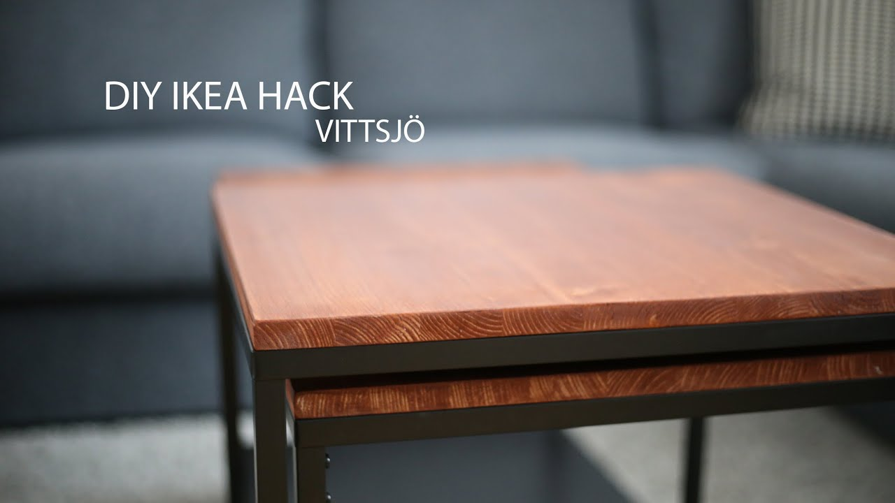 Diy Ikea Hack Vittsjo Couchtisch Youtube