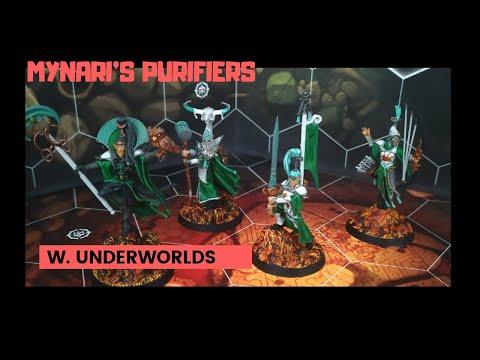 How to paint MYNARI´S PURIFIERS // Como pintar banda LUMINETH (Warhammer Underworlds) |