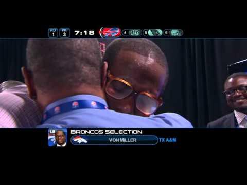 The Denver Broncos Draft Von Miller @ No. 2.