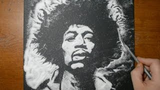 Drawing Jimi Hendrix in Sugar