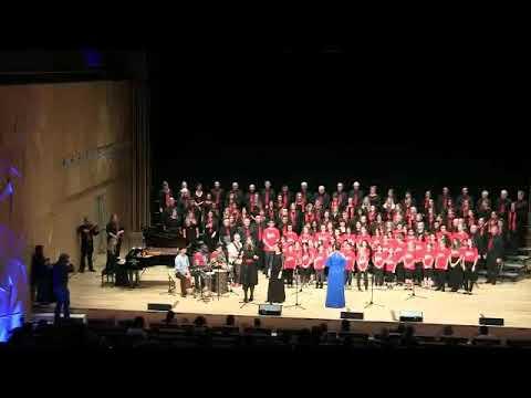 "Adiemus -Doha singers in QNCC ""Anthem"""