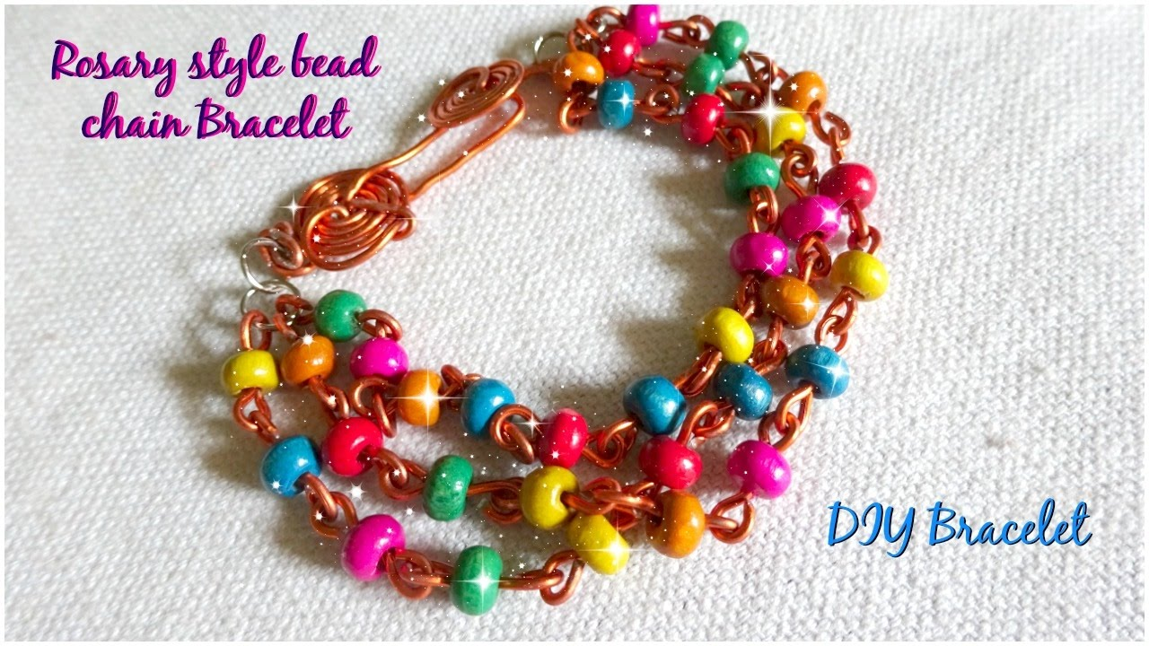 Rosary Style Bead Chain Bracelet Diy Bracelet Part 3 Youtube