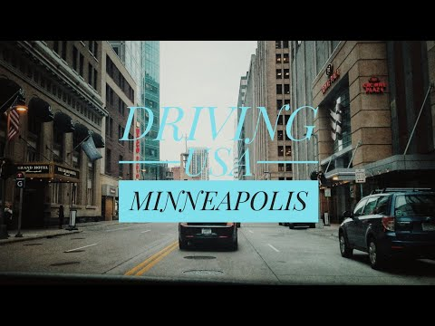 Driving Downtown - Minneapolis, Minnesota, USA