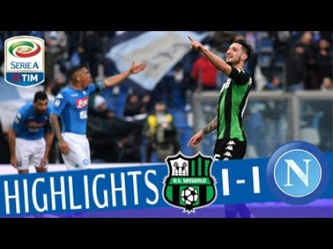 Sassuolo - Napoli 1-1- Highlights - Giornata 30 - Serie A TIM 2017/18
