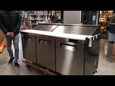 72 Inch Salad Sandwich Prep Table Refrigerator RESTAURANT EQUIPMENT