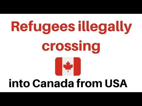 Refugees crossing USA border into Canada