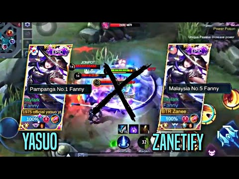 YASUO X ZANETIFY | THE MOST AGGRESSIVE FANNY COLLABORATION | Mobile Legends