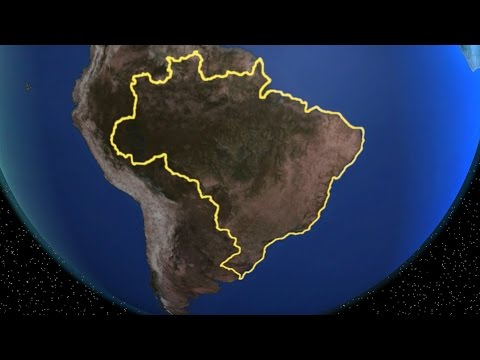 Earth, Globe, World Rotation - Zoom In Brazil | Download Here