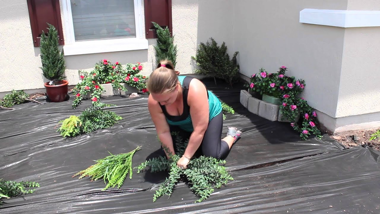 Planting An Artificial Outdoor Fern How To Plant Artificial Plants