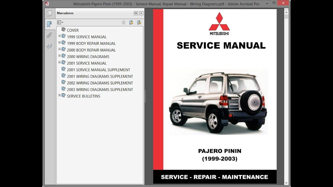 Mitsubishi Pajero Pinin 1999 2003 Service Manual Repair Manual Wiring Diagrams Youtube