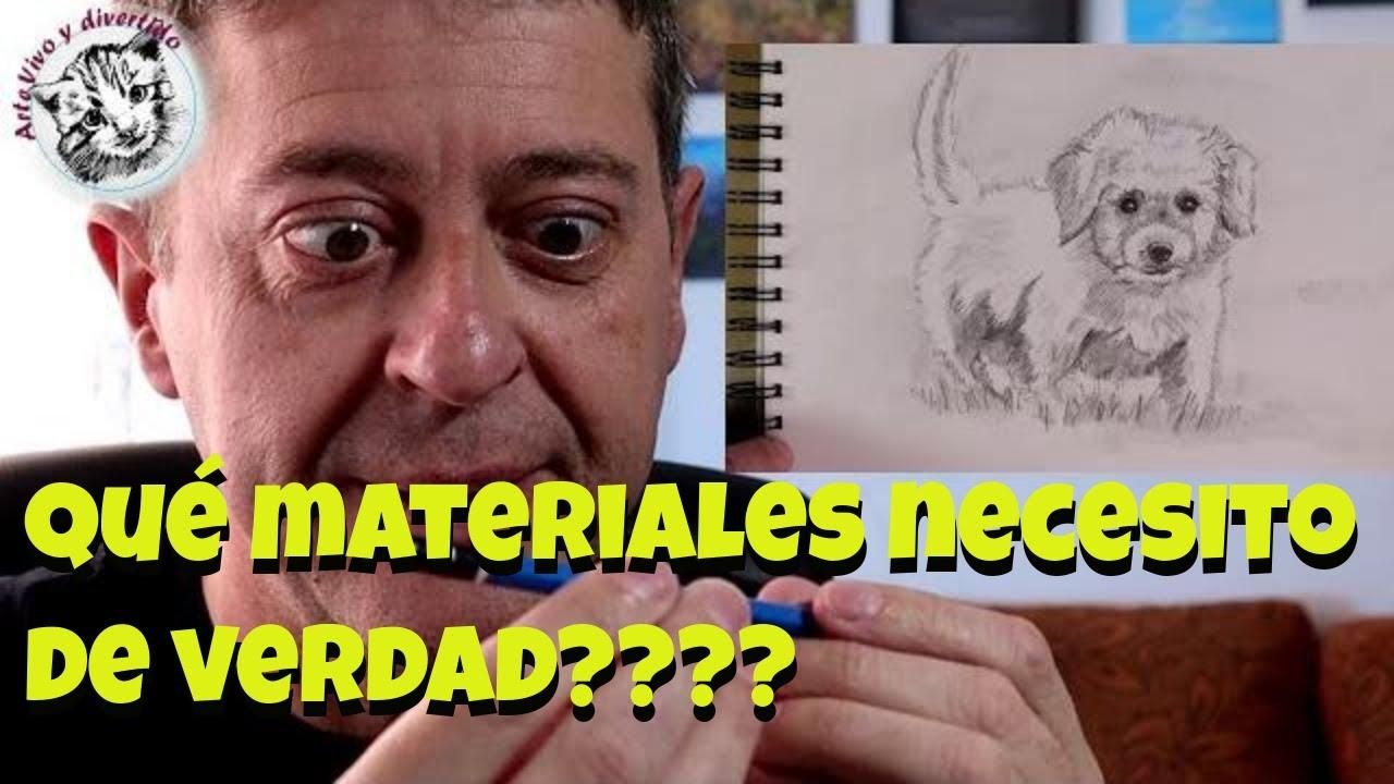 Como dibujar desde Cero #6 Materiales y Como Dibujar un Cachorro de Perro