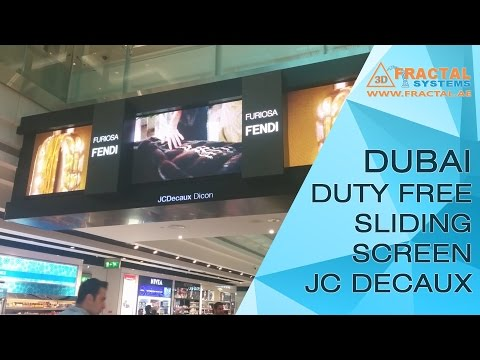 Dubai Airport Duty Free Sliding Screen - JC Decaux