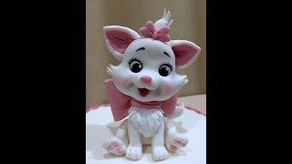 Кошечка Мари ( Кошка Мари из мастики )/Marie Cat fondant tutorial