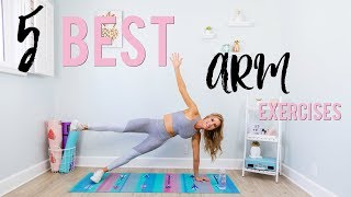 5 Best Exercises For Toned Arms | Get Rid of Arm Fat