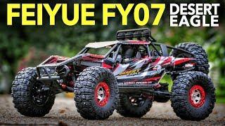 4wd Feiyue FY07 Desert Eagle 1/12 Scale RC Rock Racer - Unboxing, Speed Test & Bashing