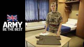 How to fold T shirts - Squared Away - Army Jobs