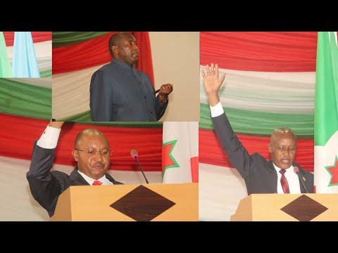 CPG Alain Guillaume Bunyoni na Ir Prosper BAZOMBANZA barahiye