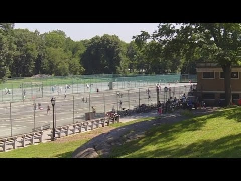 Tennis Courts in Central Park, New York City