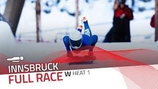 Innsbruck | BMW IBSF World Cup 2018/2019 - Women's Skeleton Heat 1 | IBSF Official