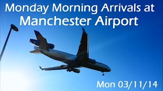 Monday Morning Arrivals at Manchester Airport - 03/11/14