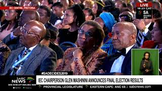 SA 2019 ELECTION RESULTS ANNOUNCEMENT: GLEN MASHININI