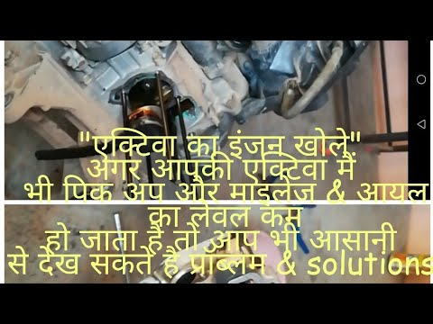Open honda activa engine and solution
