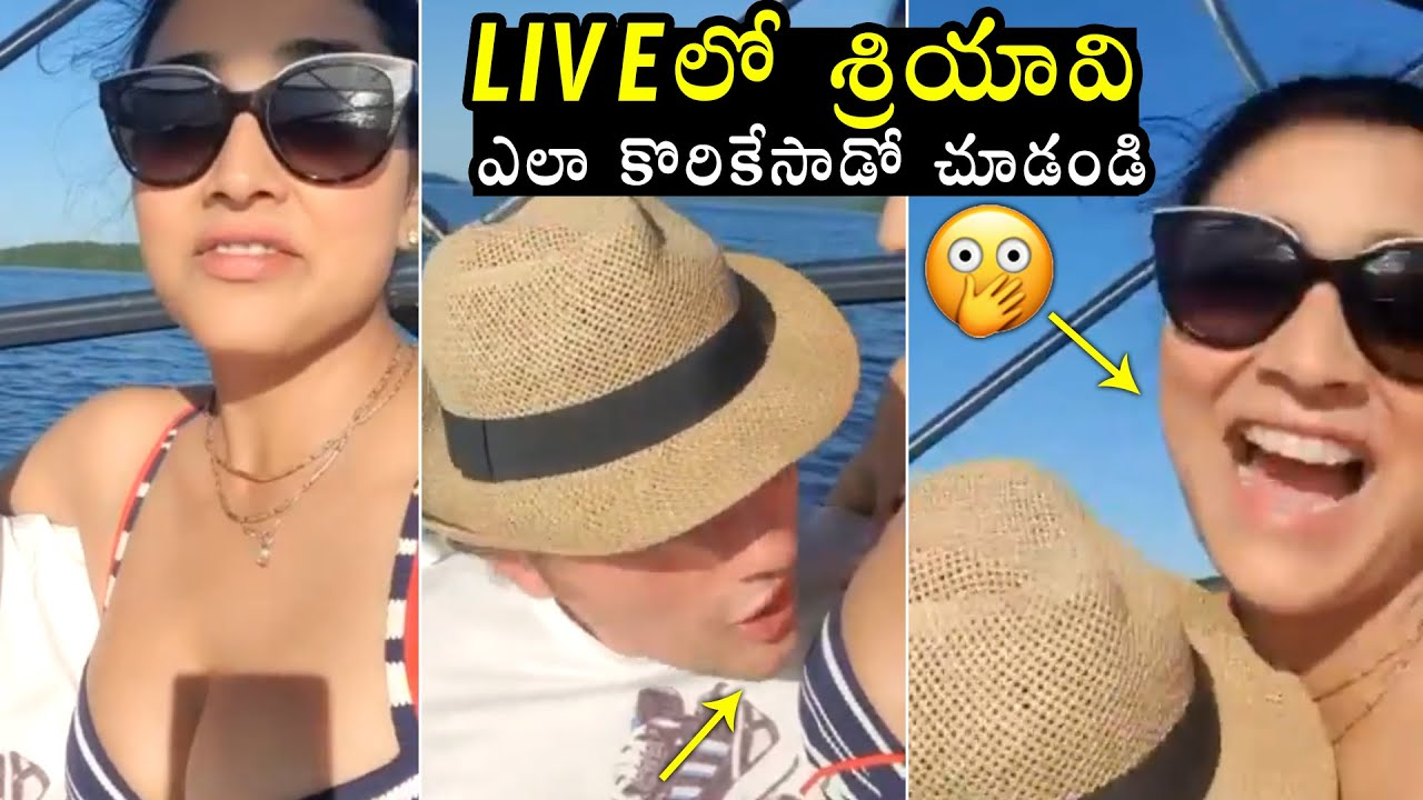 Download See How Actress Shriya Saran Reacted On Her Husband Naughty Romance on Live | Filmylooks