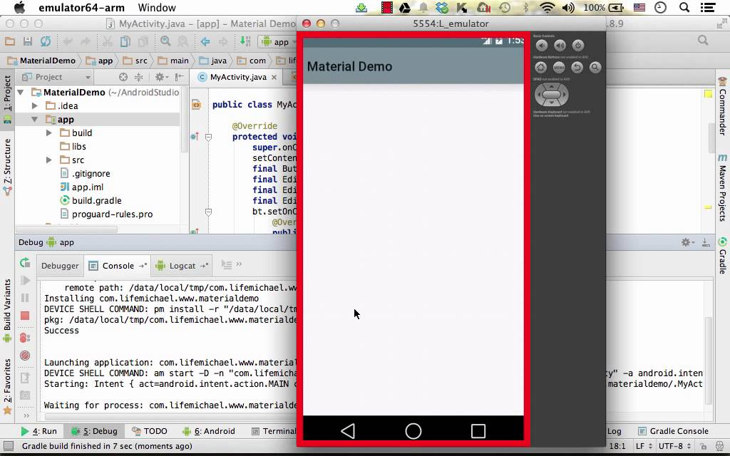 android emulator debug not working