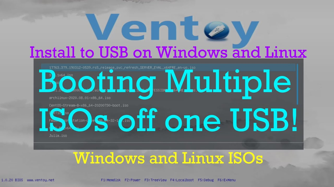 Booting multiple ISOs off one USB: Ventoy