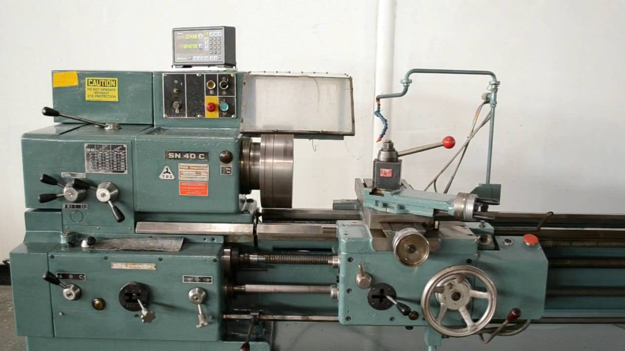 tos trencin sn 40 c 16 x 60 gap bed engine lathe w mitutoyo dro rh youtube com Monarch Lathe Manual Manual Lathe Accidents