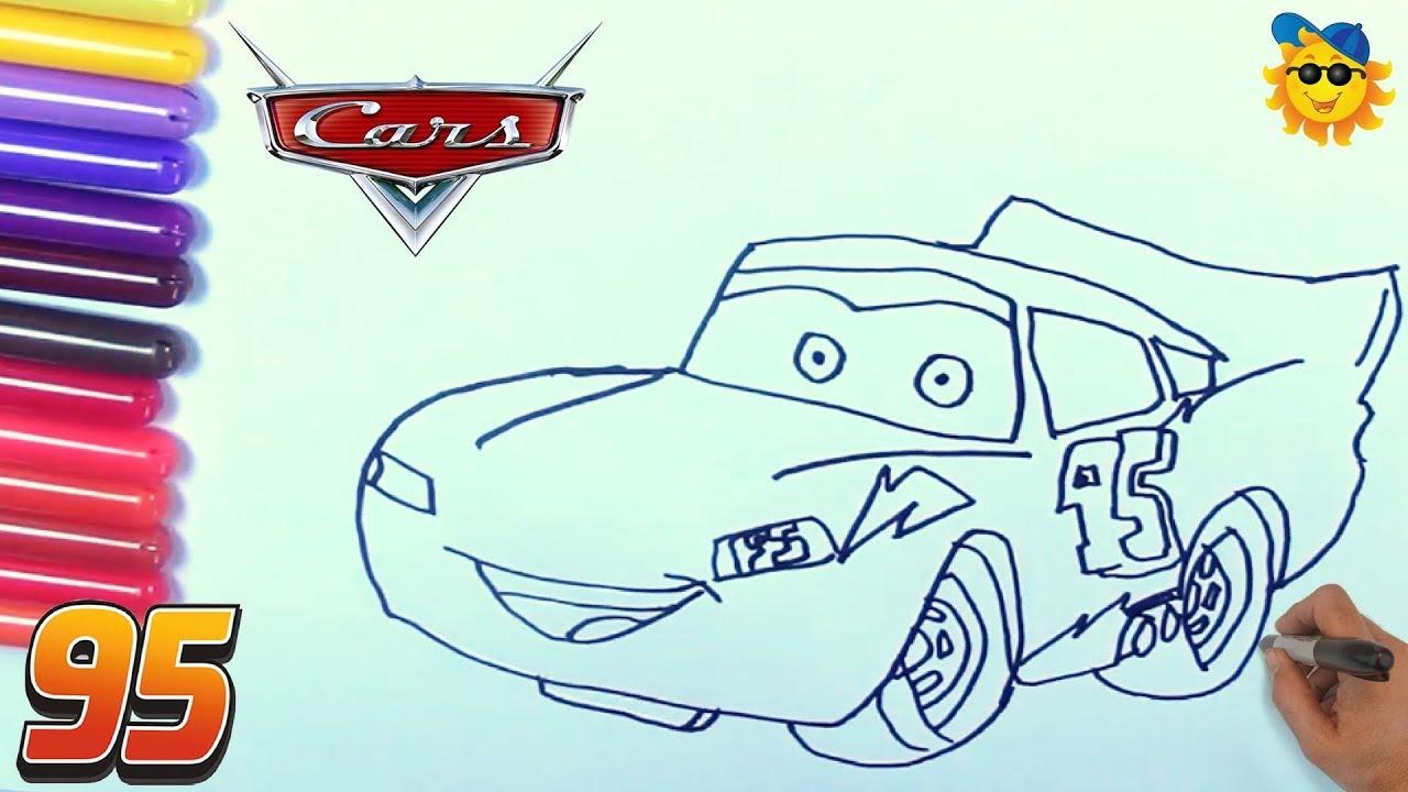 Cómo Dibujar y Colorear a Rayo de los Cars 3 Disney Dibujos Para ...
