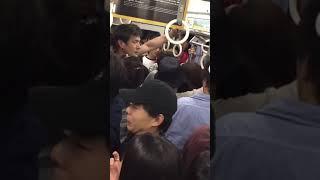 満員電車でババァとDQNが喧嘩