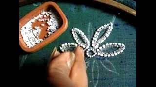 Repeat youtube video Hand embroidery bead work chain stitch