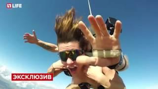Ангелина Дорошенкова прыгнула с парашютом полностью обнаженной