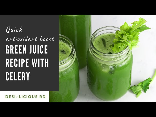 GREEN JUICE Recipe With CELERY | Quick Antioxidant Boost