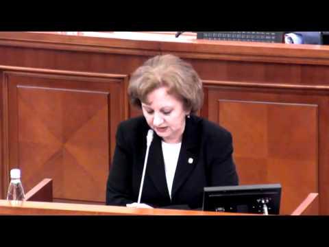 Zinaida Greceanîi la Ședința Parlamentului Republicii Moldova din 12 februarie 2015