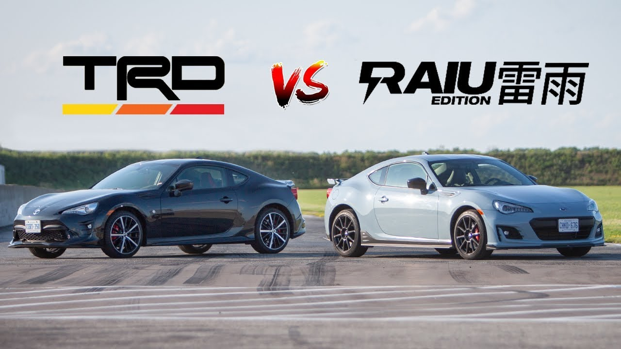 Subaru Brz Vs Toyota 86 >> Subaru Brz Raiu Vs Toyota 86 Trd The Final Editions